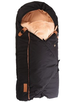 Sleepbag sovepose, sort/brun